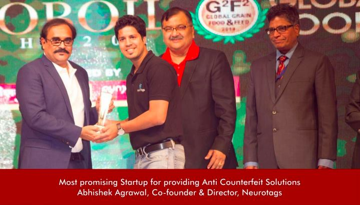 NeuroTags recognized as the most promising startup for providing Anti-Counterfeit Solution, COBRA 2019