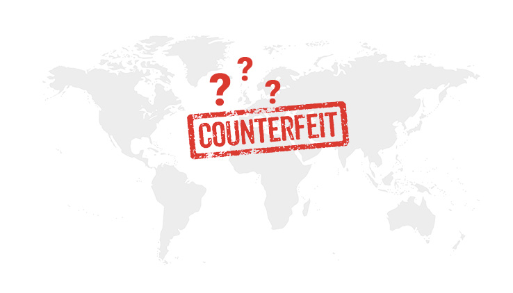 No idea where counterfeiting is happening