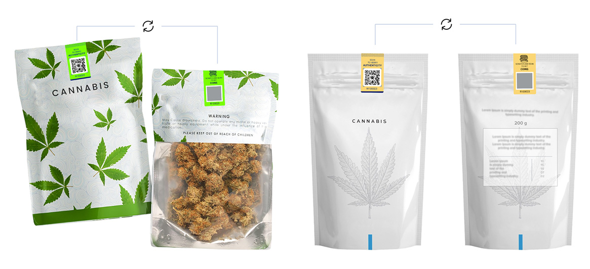 NeuroTags samle tag designs for Cannabis products