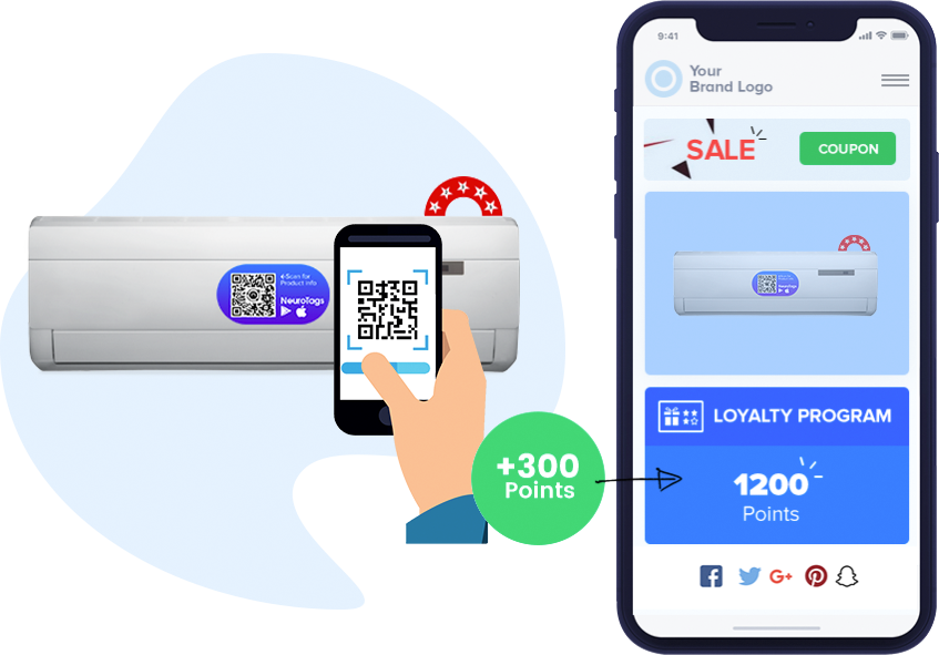 earn loyalty points by tag scan