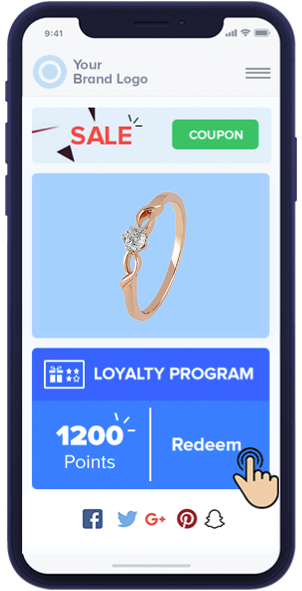 Buyer redeems loyalty points on the next purchase of jewelry
