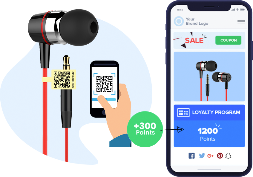 Scan product tag to earn loyalty points